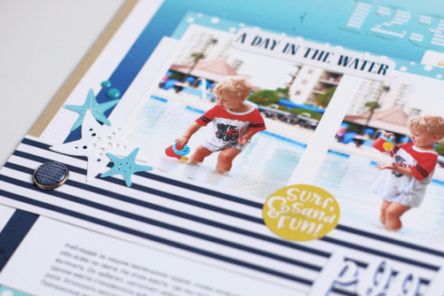"Scrapbook your fun water themed photos like Anya Lunchenko did with ""Under the Sea"" collection and designer dies by @EchoParkPaper"