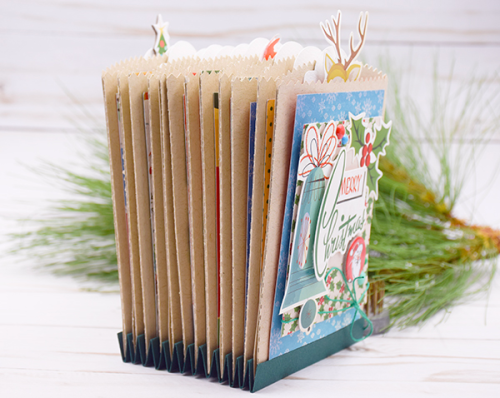 Christmas Countdown Week: Accordion Activity File by Tya Smith for #EchoParkPaper and #CartaBellaPaper