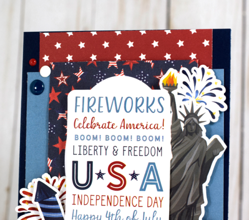 "USA, 4th of July, Card by Tya Smith featuring the ""Celebrate America"" collection by #EchoParkPaper"
