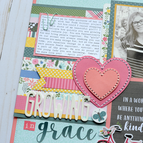 "Growing in Grace layout by Jana Eubank featuring the ""Have Faith"" collection by #EchoParkPaper"