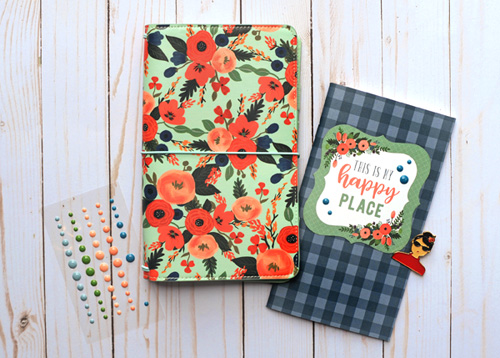 Mint Floral Travelers Notebook by Jana Eubank for #EchoParkPaper