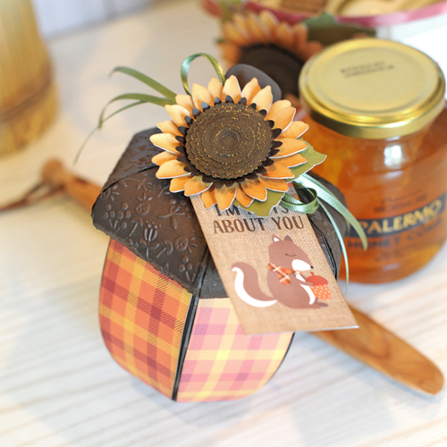"Apple Barrel Gift Basket by Jana Eubank featuring the ""Celebrate Autumn"" collection by #EchoParkPaper"
