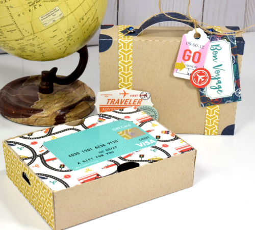 "Suitcase Gift Card Holder by Tya Smith with the ""Pack Your Bags"" collection by #CartaBellaPaper"