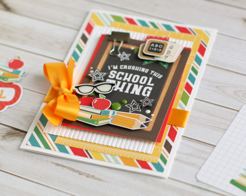"""""""Back to School"""" student card by Anya Lunchenko for #EchoParkPaper"""