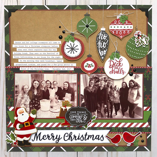 "Christmas layout by Jana Eubank featuring the ""Celebrate Christmas"" collection by #EchoParkPaper"