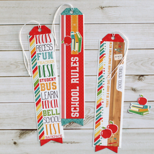 """Back to School"" Bookmark Set by Anya Lunchenko for #EchoParkPaper"