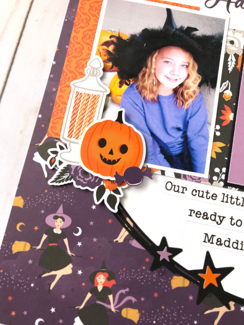 "Happy Halloween Layout by Tya Smith featuring the ""Bewitched"" collection by #EchoParkPaper"