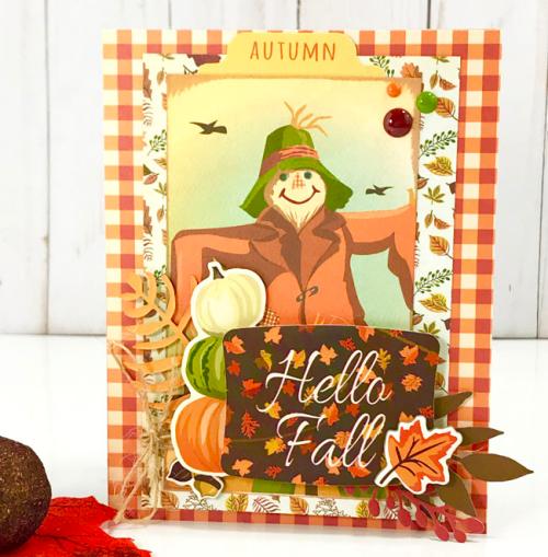 """Fall Break"" card by Tya Smith for #CartaBellaPaper"