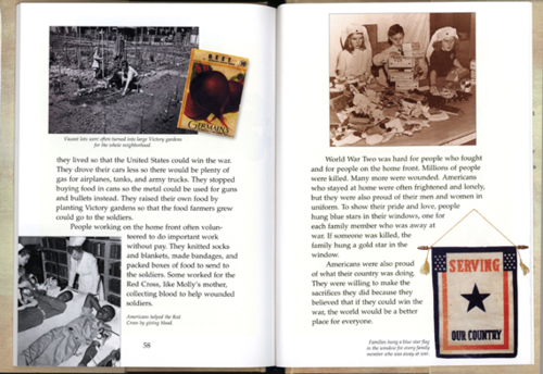 Pages 58-59 from Meet Molly, by Valerie Tripp, 2000, courtesy of The Strong, Rochester, New York.