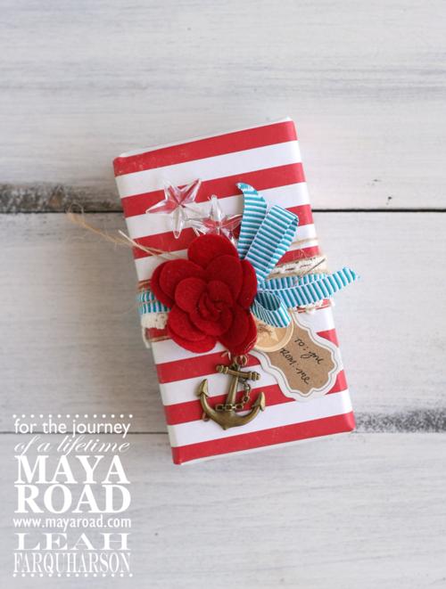 Leah farquharson maya road anchor gift wrap