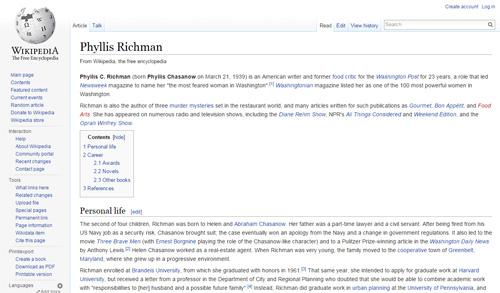Phyllis Richman_wiki