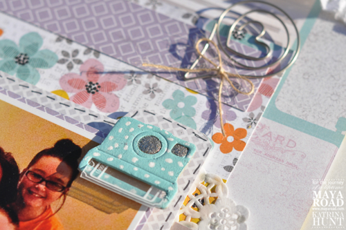 Scrapbook Layout Chipboard Camera Maya Road