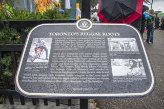 Toronto Reggae Roots Plaque