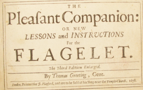 The Pleasant Companion title page