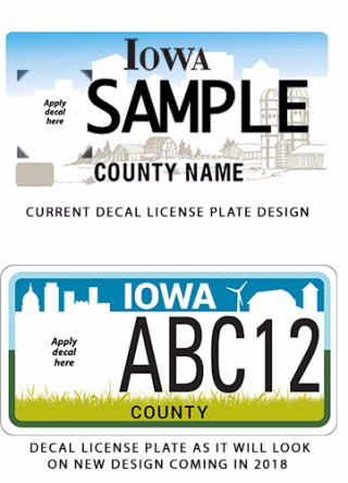 New and old decal plate designs