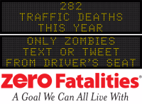 Message Monday - Only zombies text or tweet from the driver's seat