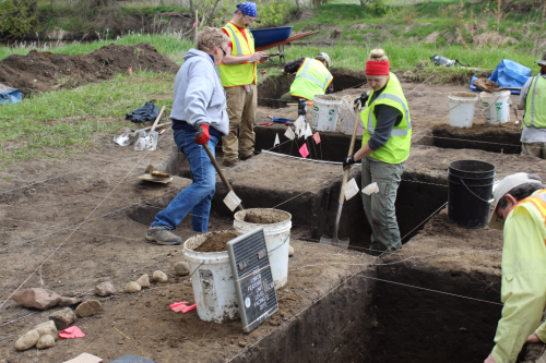 Archaeological field crew