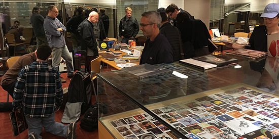 Customers at Toronto Reference Library record swap