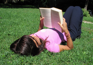 Woman Reading in the Summer