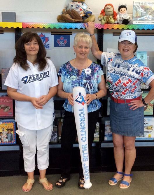 Toronto Public Library Staff in Blue Jays Gear