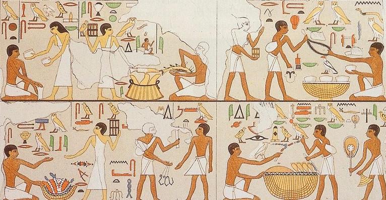 Escenas de preparación de las ofrendas. Necrópolis de Abusir, Egipto.