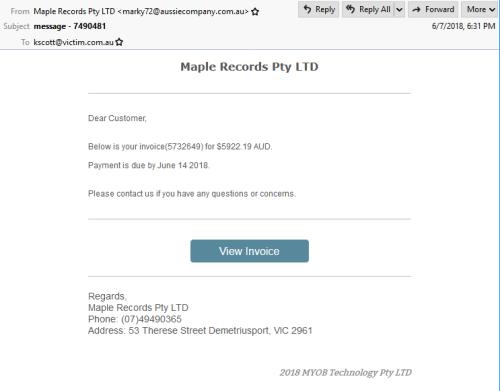 Mapple-myob-invoice