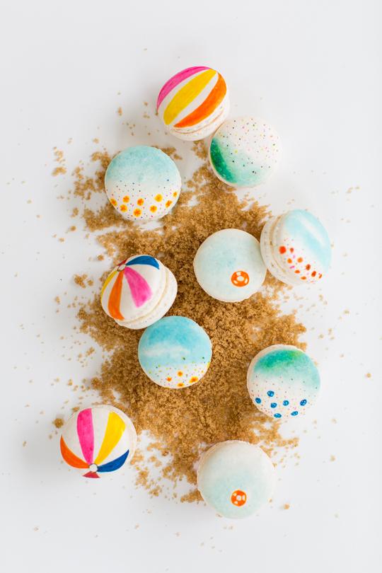 beach themed macarons