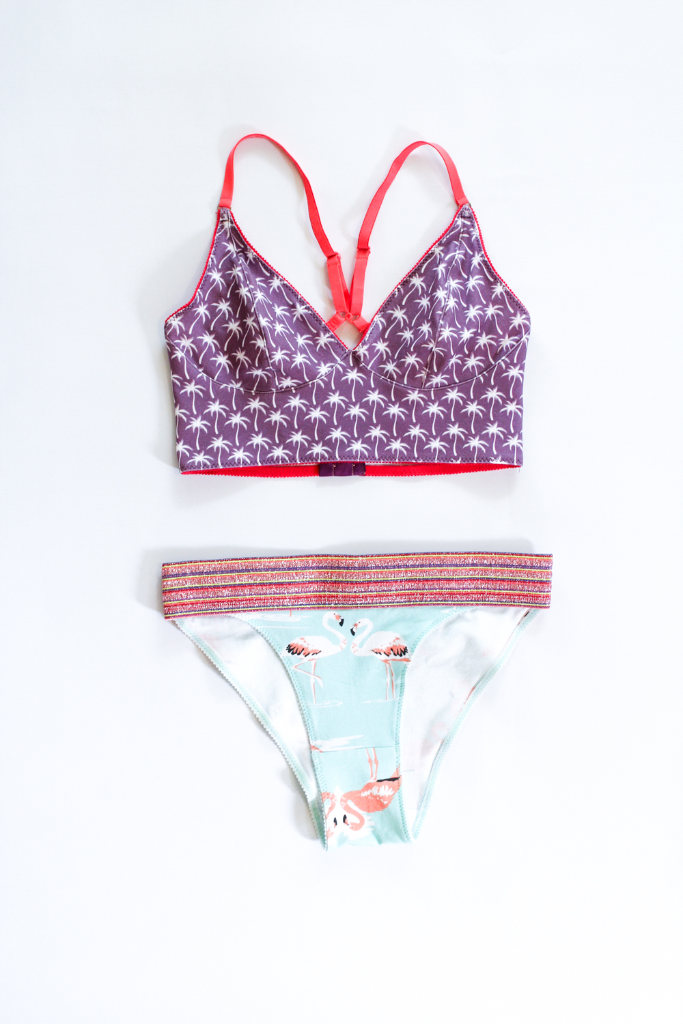Make your own bralettes and briefs with Spoonflower's new Cotton Spandex Jersey!