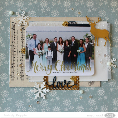 Christmas Card Scrapbook Layout