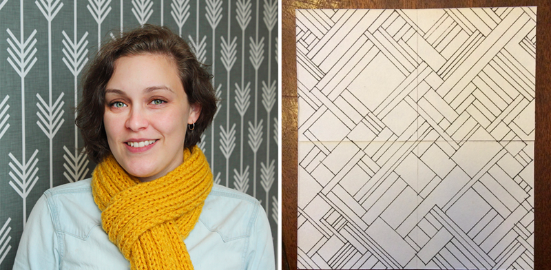 Leah lets her doodling take center stage for her Spoonflower Employee Design Challenge entry.