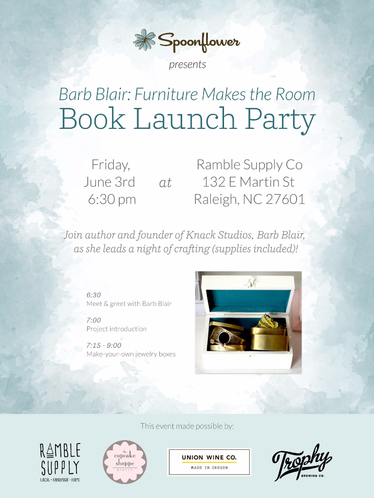 Furniture Makes the Room book launch party