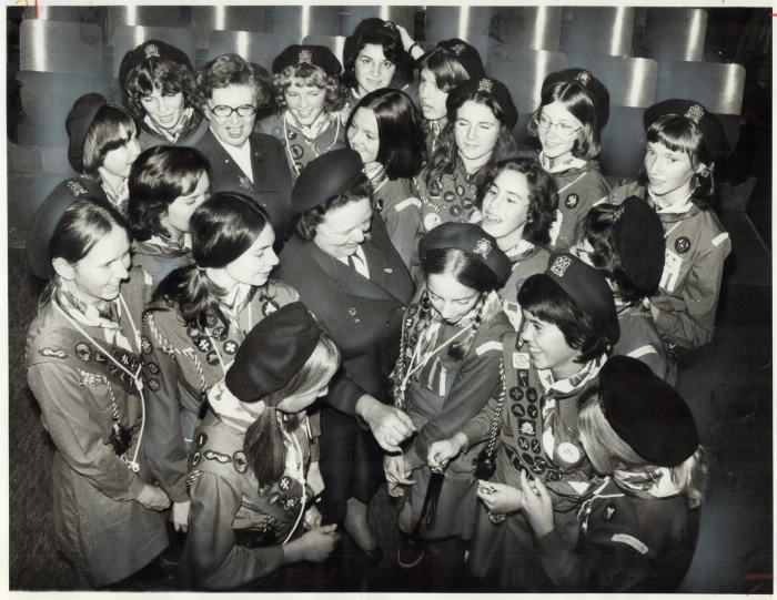 Group of Girl Guides